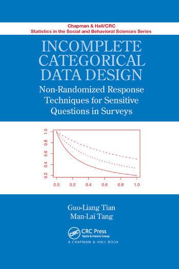 Incomplete Categorical Data Design Non-Randomized Response Techniques for Sensitive Questions in Surveys book cover