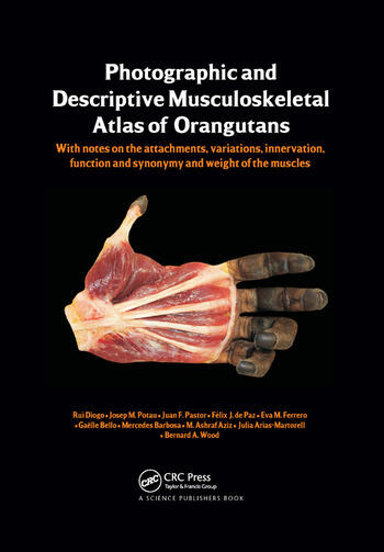 Photographic and Descriptive Musculoskeletal Atlas of Orangutans with notes on the attachments, variations, innervations, function and synonymy and weight of the muscles book cover