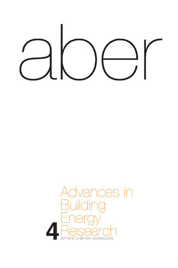 Advances in Building Energy Research Volume 4 book cover