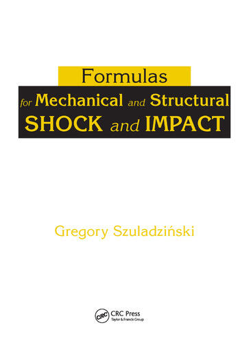 Formulas for Mechanical and Structural Shock and Impact book cover