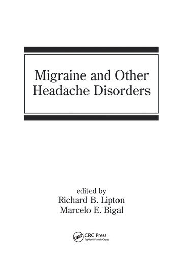 Migraine and Other Headache Disorders book cover