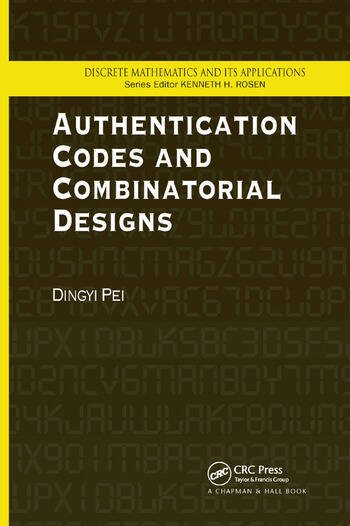 Authentication Codes and Combinatorial Designs book cover