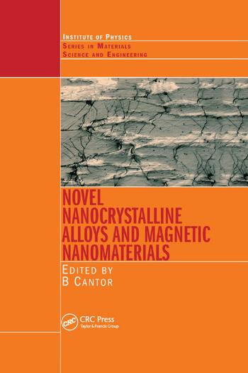 Novel Nanocrystalline Alloys and Magnetic Nanomaterials book cover