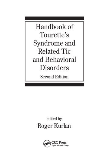 Handbook of Tourette's Syndrome and Related Tic and Behavioral Disorders book cover