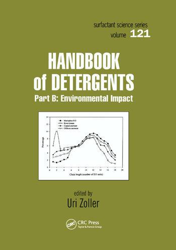 Handbook of Detergents, Part B Environmental Impact book cover