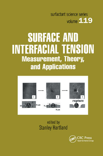 Surface and Interfacial Tension Measurement, Theory, and Applications book cover