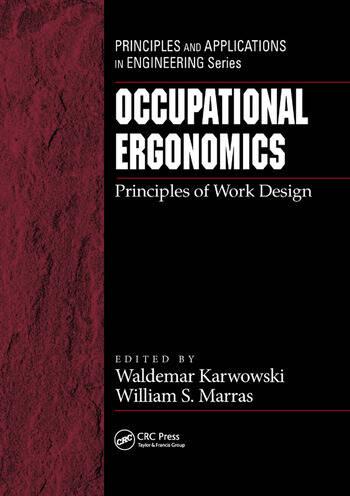 Occupational Ergonomics Principles of Work Design book cover
