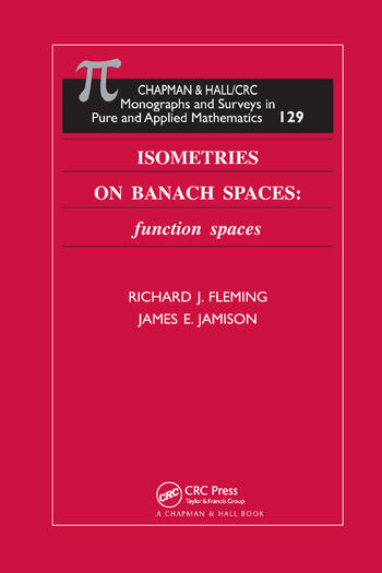 Isometries on Banach Spaces function spaces book cover