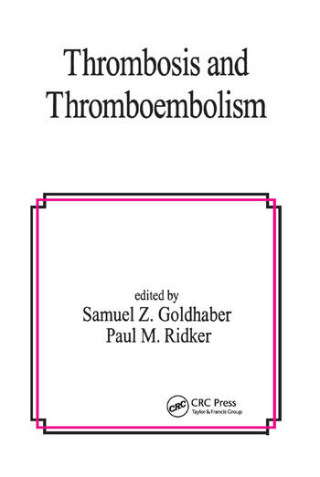 Thrombosis and Thromboembolism book cover