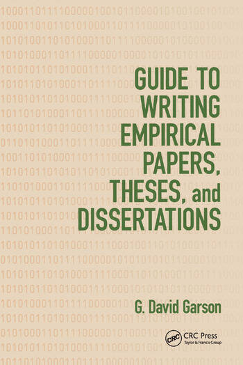 Guide to Writing Empirical Papers, Theses, and Dissertations book cover