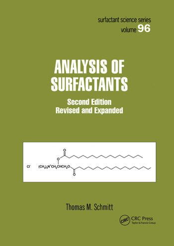 Analysis of Surfactants book cover