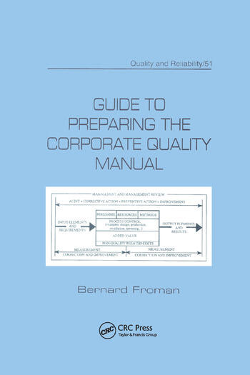Guide to Preparing the Corporate Quality Manual (Quality and Reliability, 51)