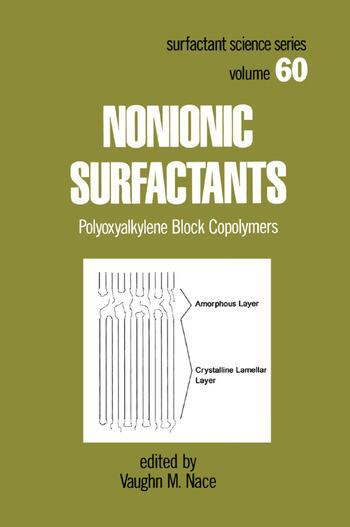 Nonionic Surfactants Polyoxyalkylene Block Copolymers book cover