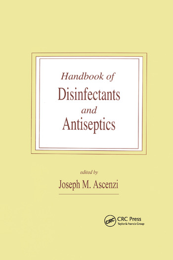 Handbook of Disinfectants and Antiseptics book cover