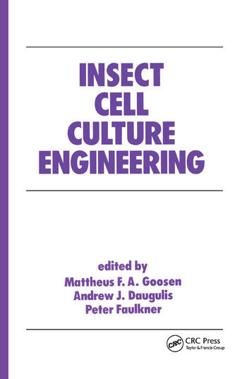 Insect Cell Culture Engineering book cover