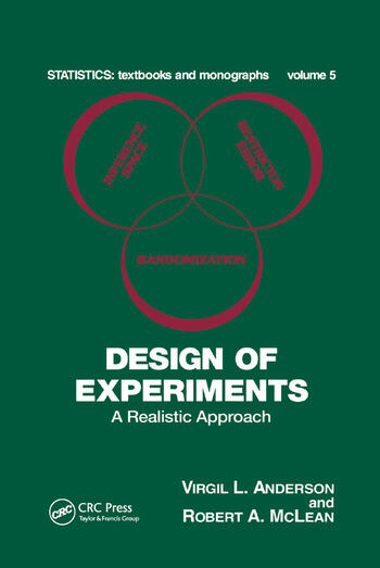 Design of Experiments A Realistic Approach book cover