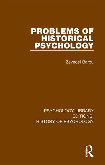 Problems of Historical Psychology book cover