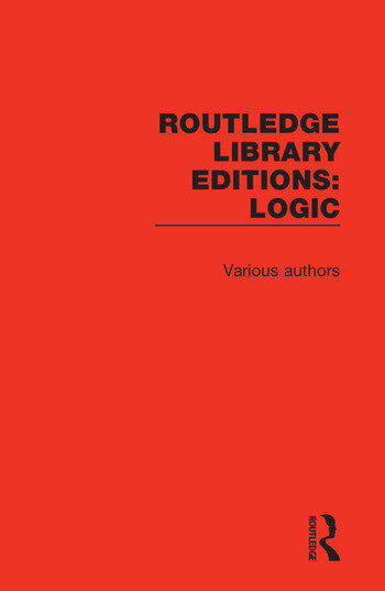 Routledge Library Editions: Logic book cover