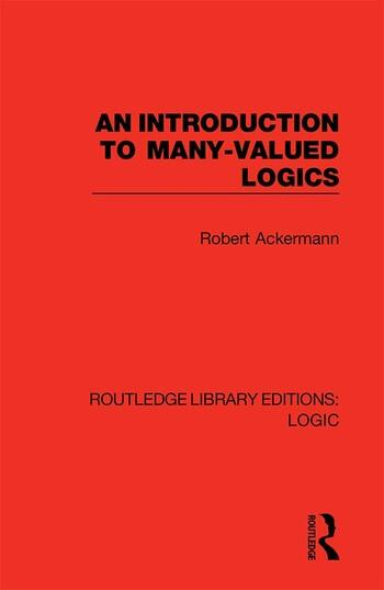 An Introduction to Many-valued Logics book cover
