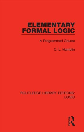 Elementary Formal Logic A Programmed Course book cover