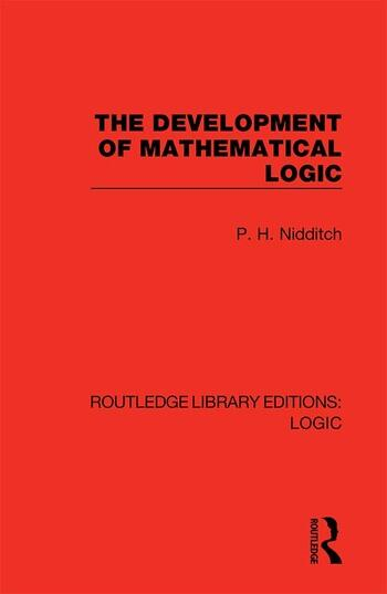 The Development of Mathematical Logic book cover
