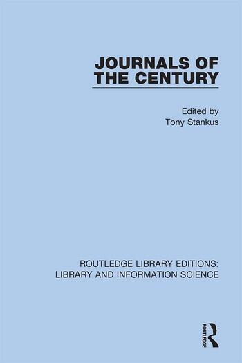 Journals of the Century book cover
