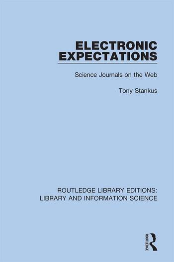 Electronic Expectations Science Journals on the Web book cover
