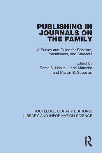Publishing in Journals on the Family Essays on Publishing book cover