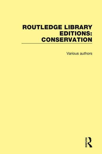 Routledge Library Editions: Conservation book cover