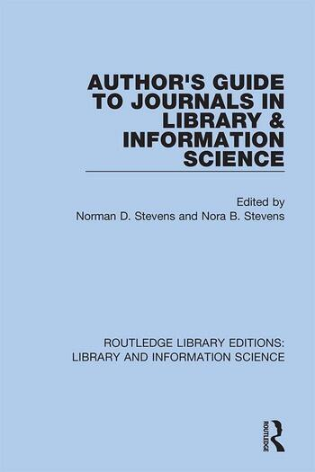 Author's Guide to Journals in Library & Information Science book cover
