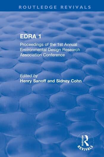 EDRA 1 Proceedings of the 1st Annual Environmental Design Research Association Conference book cover