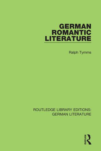 German Romantic Literature book cover