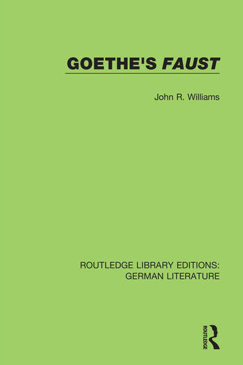 Goethe's Faust book cover