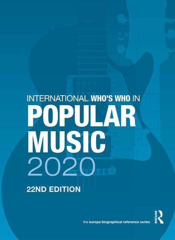 International Who's Who in Popular Music 2020 book cover