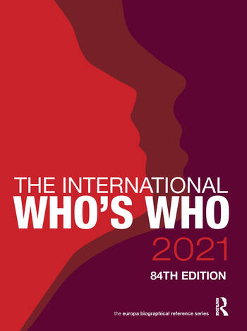 The International Who's Who 2021 book cover
