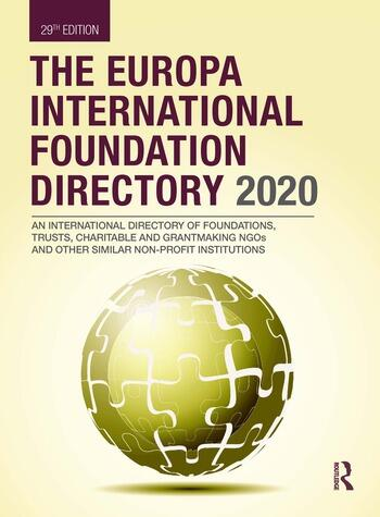 The Europa International Foundation Directory 2020 book cover