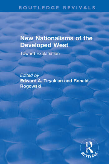 New Nationalisms of the Developed West Toward Explanation book cover