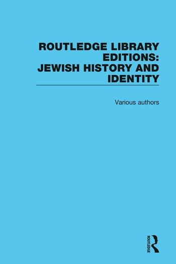 Routledge Library Editions: Jewish History book cover