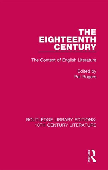 The Eighteenth Century The Context of English Literature book cover