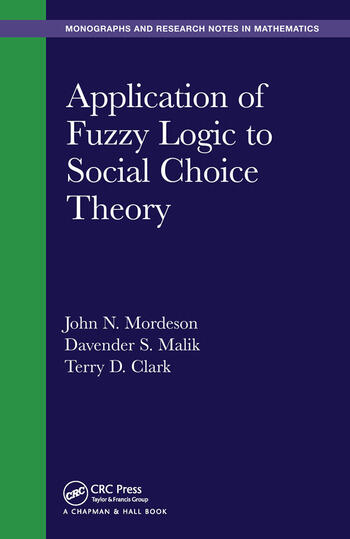 Application of Fuzzy Logic to Social Choice Theory book cover