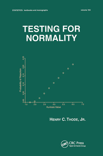 Testing For Normality book cover