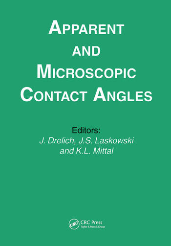 Apparent and Microscopic Contact Angles book cover