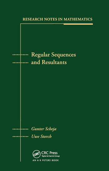 Regular Sequences and Resultants book cover