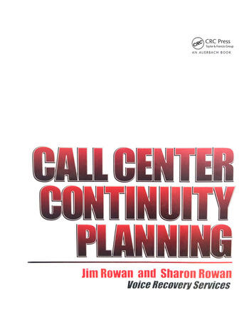 Call Center Continuity Planning book cover