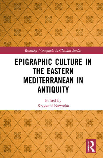 Epigraphic Culture in the Eastern Mediterranean in Antiquity book cover