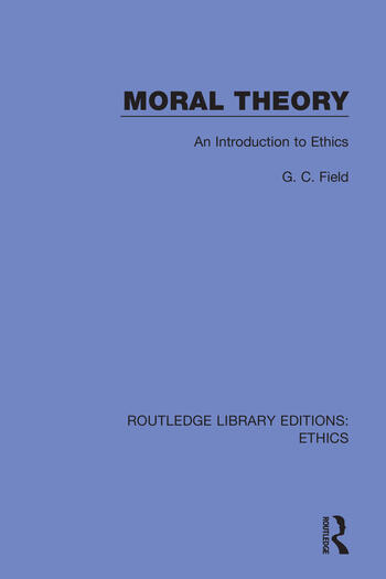 Moral Theory An Introduction to Ethics book cover