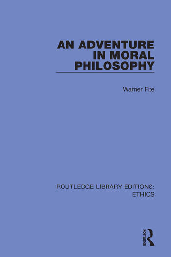 An Adventure In Moral Philosophy book cover