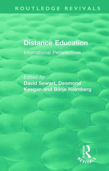 Distance Education International Perspectives book cover