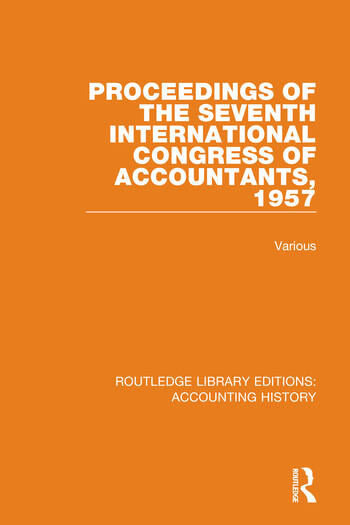 Proceedings of the Seventh International Congress of Accountants, 1957 book cover