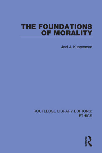 The Foundations of Morality book cover